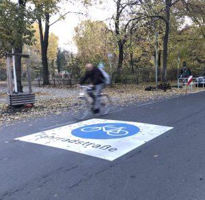 Fahrradstraße am Weichselplatz